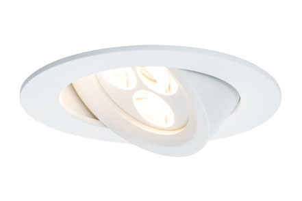 92604 Св-к Prem.EBL Snowy schw LED 1x3,6W, белый Elegant material – high-quality finish. The individually swivelling LED recessed luminaires in the Premium Line offer efficient but homelike warm white LED light and meet the most stringent standards for material quality and design. 926.04 Paulmann