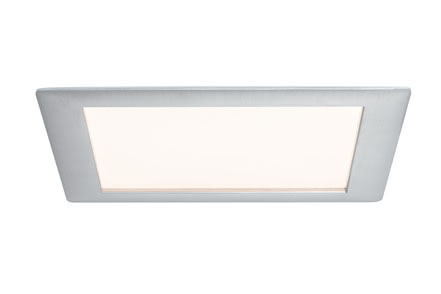 92610 Светильник Panel eckig LED 1x8W, 2700К, Al-g The Premium LED recessed panel provides optimum light distribution and is highly versatile thanks to its flat installation depth. 926.10 Recessed panel Premium Line 8 W LED brushed aluminium Warm white, square, 1 pc. set Paulmann