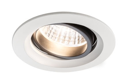92676 Светильник встр. Set Daz schwenkb. LED 2x7W Elegant material – high-quality finish. The individually swivelling LED recessed luminaires in the Premium Line offer efficient but homelike warm white LED light and meet the most stringent standards for material quality and design. The recessed lamp means that the light it emits is free of glare despite its excellent light output. 926.76 Premium line recessed light set, Daz 2x7W LED Matt white, swivelling, 2-pc. set Paulmann