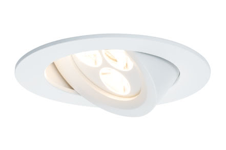 92689 Комплект встраиваемых светильников Snowy schw LED 3x7,5W, белый матовый Elegant material – high-quality finish. The individually swivelling LED recessed luminaires in the Premium Line offer efficient but homelike warm white LED light and meet the most stringent standards for material quality and design. 926.89 Premium Line recessed light, LED Snowy Matt white Paulmann