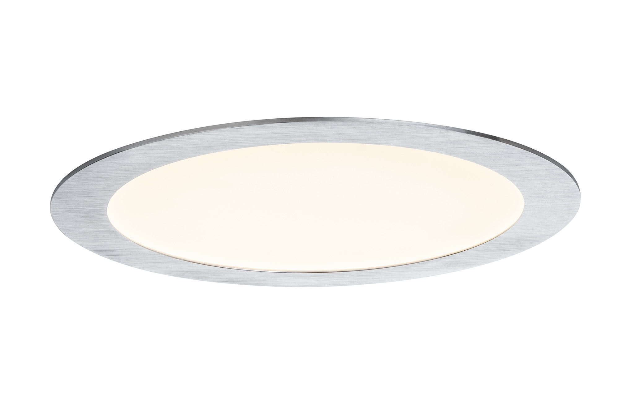 92719 Premium EBL Panel ? LED 1x15W Al-g The Premium LED recessed panel provides optimum light distribution and is highly versatile thanks to its flat installation depth. 927.19 Recessed panel Premium Line 13 W LED brushed aluminium Warm white, round, 1-pc. set Paulmann