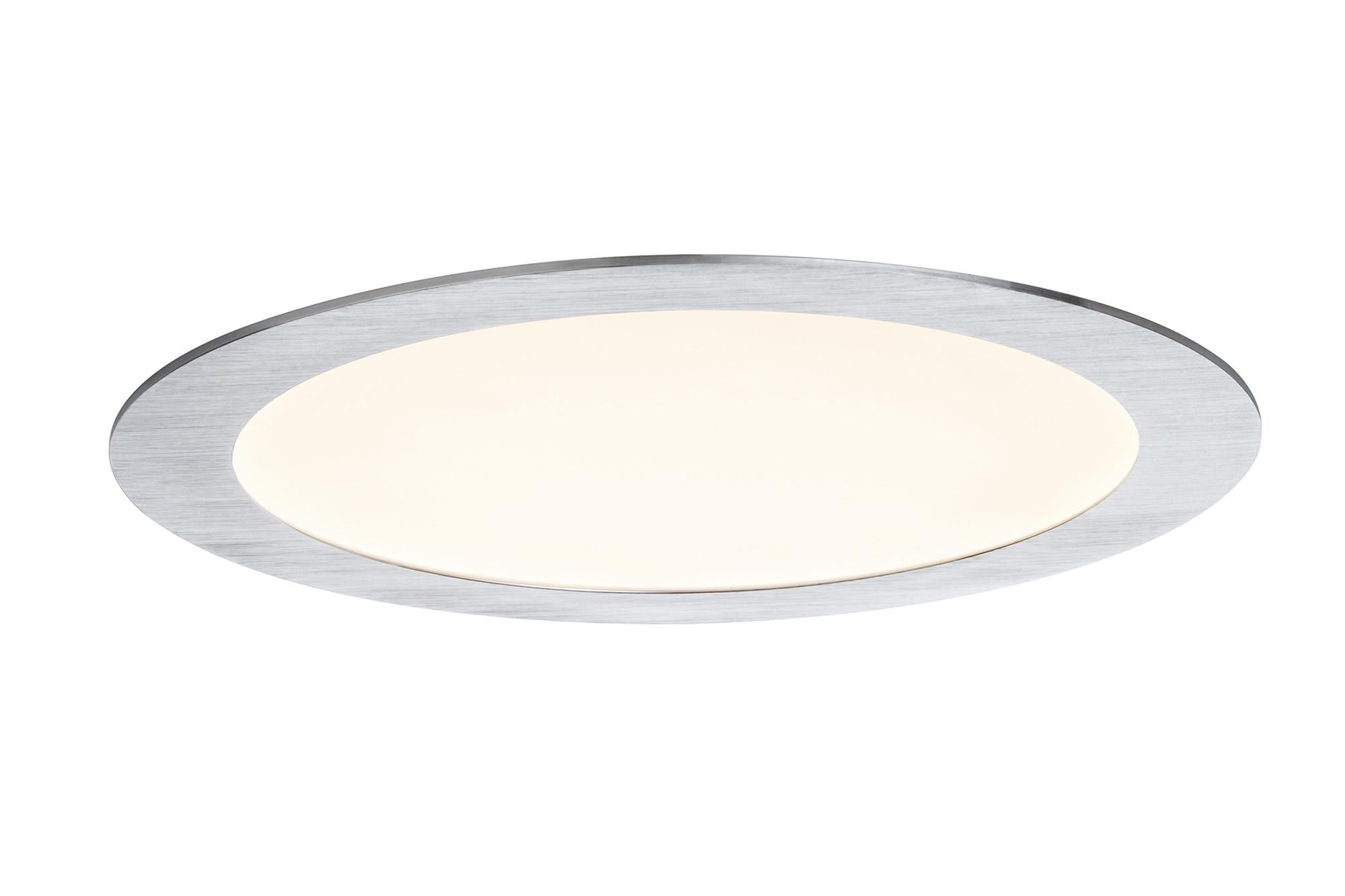 92719 Premium EBL Panel ? LED 1x15W Al-g The Premium LED recessed panel provides optimum light distribution and is highly versatile thanks to its flat installation depth. 927.19 Recessed panel Premium Line 13 W LED brushed aluminium Warm white, round, 1-pc. set Paulmann