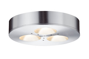 93546 Светильник комплект M?bel ABL Set PlaneLED 3x3W 12VA 350mA The right choice for display cases, furniture and the like: The furniture recessed lighting set Micro Line Platy LED can be used as a recessed light as well as a surface-mounted light, however you like. Even the recessed installation is compact; the super-flat lamp with a height of 15 mm does not require much space and is ideal for applications such as under-cabinet lighting for work surfaces. 935.46 Paulmann