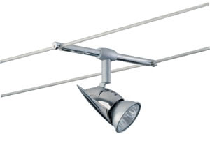 97176 Светильник струнный Рим, - , 50W 971.76 Cable light, halogen, 1x35W, Rom, 12V, GU5.3, Chrome Paulmann