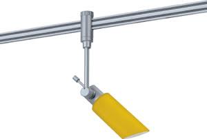 97277 Cветильник для шинной системы PHANTOM 230V L&E Phila 1x40W G9 230V титан/оранжевый лощеный/желтый лощеный 972.77 Rail System L&E Phantom Spot Phila 40W G9 Chrome matt orange/yellow 230V metal/plastic/glass Paulmann
