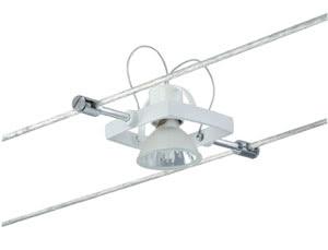 97497 Cветильник для тросовой системы WIRE 12V L&E Mac II 1x35W GU5,3 12V белый (В-160mm) 974.97 Wire Systems Light&Easy Spot Mac II 1x35W GU5,3 White 12V Metal Paulmann