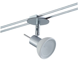 Rail System Light&Easy Spot Sheela 1x35W GU5,3 Chrom matt/Opal 12V Metall/Glas