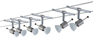 Wire Systems Sheela 210 6x35W GU5,3 Nickel Satinised 230/12V 210VA Metal