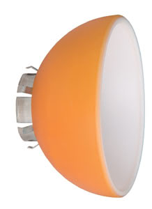 Wire+Rail System Schirm Extra Lampshade Sheela max.1x20W Orange Glas