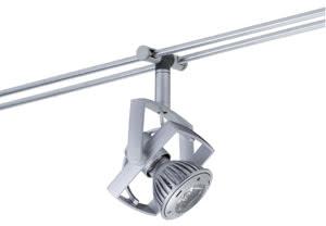 97624 976.24 Rail Systems Light&Easy Spot Mac² L 1x1W GU5,3 Chrome matt 12V Metal/Plastic Paulmann
