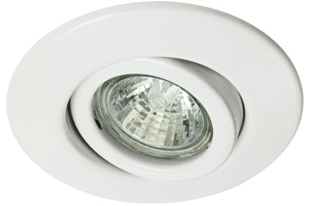 Quality line recessed light set, halogen, 35 mm, White, Swivelling, 3 pc. set