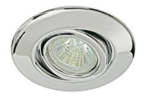 Quality line recessed light set, halogen, 35 mm, Chrome, Swivelling, 3 pc. set