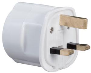 98475 Адаптер для розетки UK 230V, белый 984.75 Adapter for UK-plug 230V White Paulmann
