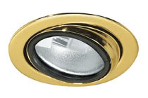Micro line furniture down light, swivelling, Gold