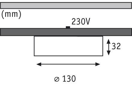 Möbel ABL Set rund ESL Disc 3x9W 230V GX53 75mm Eisen gebürstet/Metall