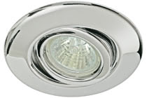 Quality line recessed light, 35 mm, Chrome, Swivelling