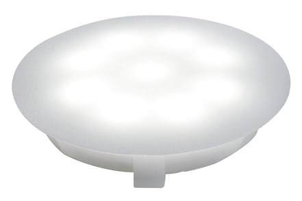 98756 Светильник встраиваемый UpDown Multifunk.-Mini 1x1W сатин 1x1 W, DC 12 V, Polycarbonate, incl. lamps 987.56 Recessed light for UpDownlight LED special line Satin Paulmann