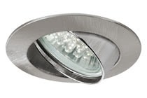 Premium line recessed light set, 1 W LED Brushed iron, 1 pc. set