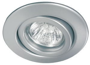 Quality line recessed light set, halogen, 51 mm, Chrome matt, Swivelling, 3 pc. set