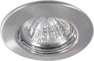 98816 Набор светильников встраиваемых круглых 4x50W GU5,3 230/12V железо шероховатое (транс 2х105VA) 988.16 Quality recessed light set 4x50W 2x105VA 230/12V GU5,3 83mm brushed Iron sheet st Paulmann