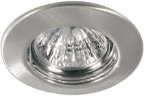Quality line recessed light set, halogen, 51 mm, Brushed iron, 5 pc. set