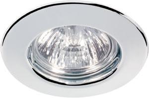 Quality recessed light set 4x50W 2x105VA 230/12V GU5,3 83mm Chrome sheet steel