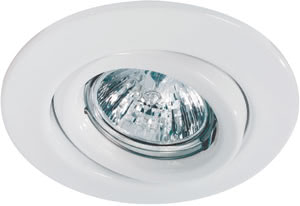 Quality recessed light set swiveling 5x20W 105VA 12V GU5,3 110mm Wh sheet st