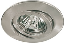 Quality line recessed light set, halogen, 51 mm, Brush. iron, Swivelling, 5 pc. set