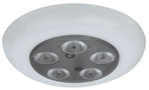 98838 Светильник встраиваемый круглый LED 1x(5x3W) белый (смена цвета) (IP23, cd 400) Two million colours - united in just one light. Thanks to LED technology, continuous adjustment of any required colour combination is possible using a push button. A useful life of 50,000 hours means practically no maintenance. Also suitable for creating lighting effects in wet-duty rooms, for example when creating time-related lighting moods in the bathroom. 988.38 Profi EBL RGB Wellness 1x(5x3)W LED Synthetics - White Paulmann