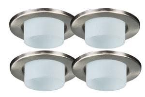 98874 Светильник декоцилиндр, -сатин, 4х20W 988.74 Deco recessed light deco cylinder 4x20W 80VA 230/12V GU5,3 83mm b Ir.sheet steel Paulmann
