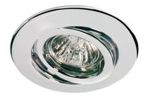 Quality line recessed light set, 230 V halogen, Chrome, Swivelling, 4 pc. set