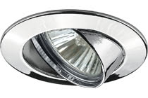 98944 Светильник встраиваемый поворотный, GU10, 4x50W Elegant material – high-quality finish. The individually swivelling 230ВV halogen recessed luminaires of the Premium Line offer a cosy light and fulfil even the highest expectations for material quality and design. 989.44 Premium recessed light set, 230 V halogen Chrome, Swivelling, 4 pc. set Paulmann
