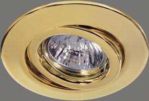 98974 Набор светильников встраиваемых круглых поворотных 3x35W GU5,3 230/12V золото (транс 105VA) 989.74 Paulmann