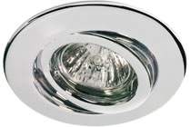 Quality line recessed light set, halogen, 51 mm, Chrome, Swivelling, 3 pc. set