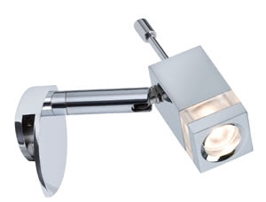 99071 990.71 Mirror luminaire, LED, 1x3W, Quadro, 230V, Chrome Paulmann
