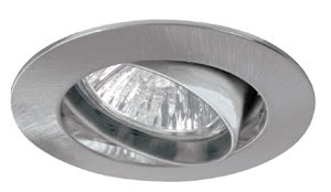 Premium line recessed light set, halogen, 35 mm Brush. iron, Swivelling, 3 pc. set