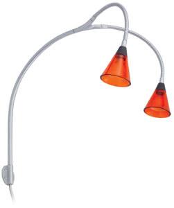 99370 Светильник для подсветки (пара) Galeria Curcuma 2x20W GU4 230/12V хром матовый/оранжевый прозрачный (транс 70VA) 993.70 Paulmann
