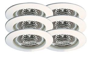 99373 Набор светильников встраиваемых круглых 6x35W GU5,3 230/12V белый (транс 2х105VA) (IP44), шт 993.73 Paulmann – Buy lamps and luminaires online from the manufacturer Paulmann Lighting Paulmann