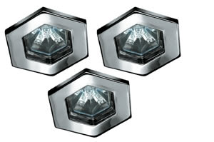 99591 Светильник встраиваемый Гекса, TIP, 3х20W Beautiful design - ideal for living spaces. The halogen 12В V recessed luminaires of the Quality Line offer brilliant light and fulfil even the highest expectations for material quality and design. 995.91 Paulmann