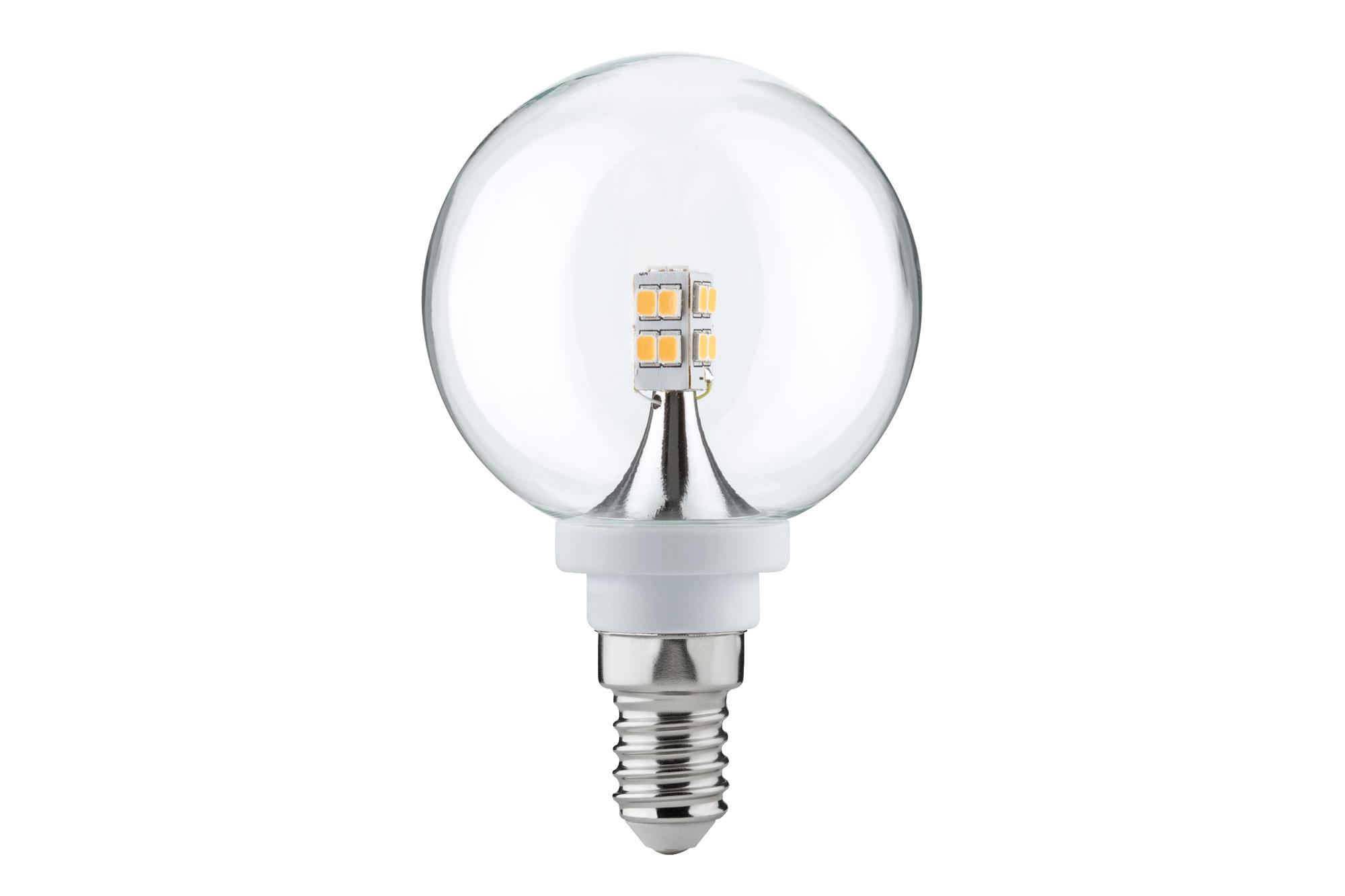 Paulmann. 28264 Лампа LED Globe 60 мм 2,5W E14, прозрачная