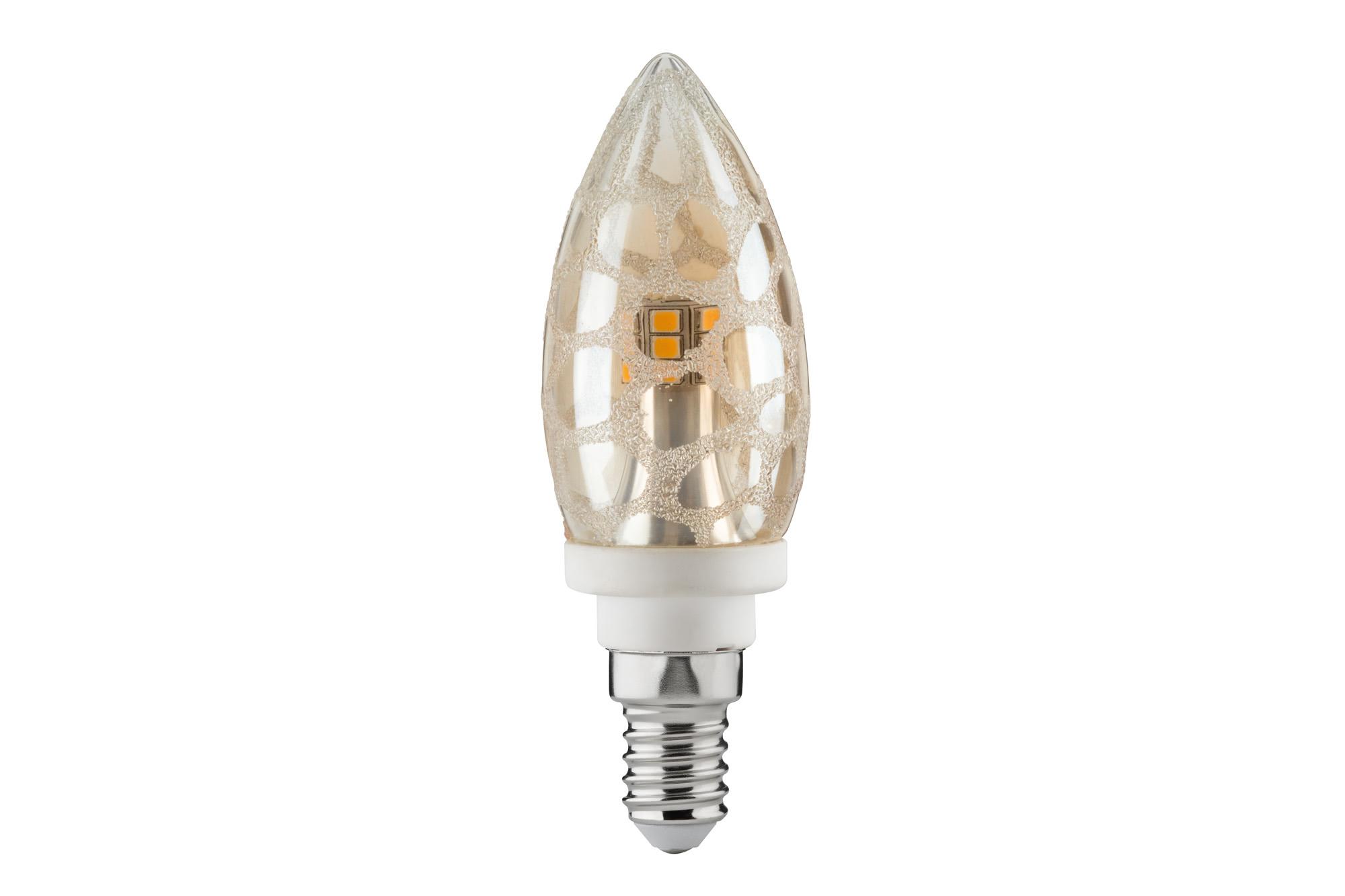 Paulmann. 28310 LED Kerze 4W E14 Krokoeis Gold 2700K