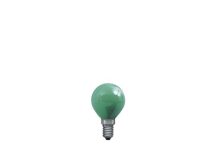 Paulmann. 40123 Лампа Капля, зеленая, E14, 45мм 25W