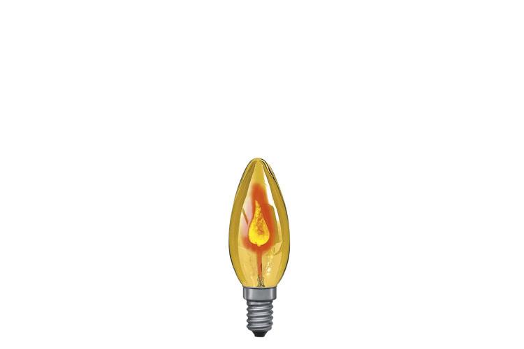 Paulmann. 53002 Лампа мерцающая свеча желтая Е14, 3W