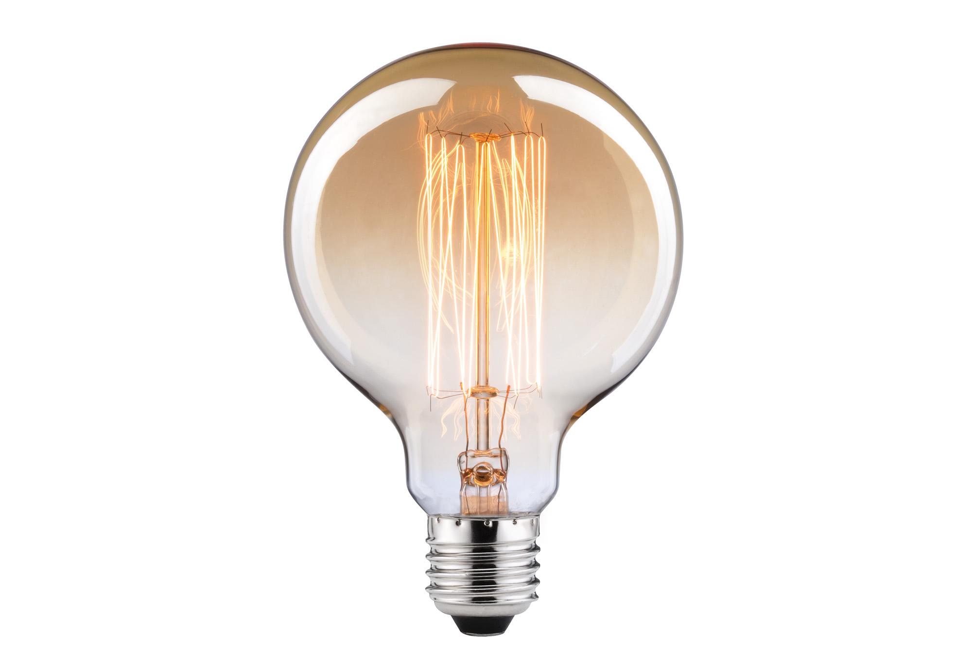 Paulmann. 54025 Лампа Globe 95 Rustika 40W E27 230V, золото