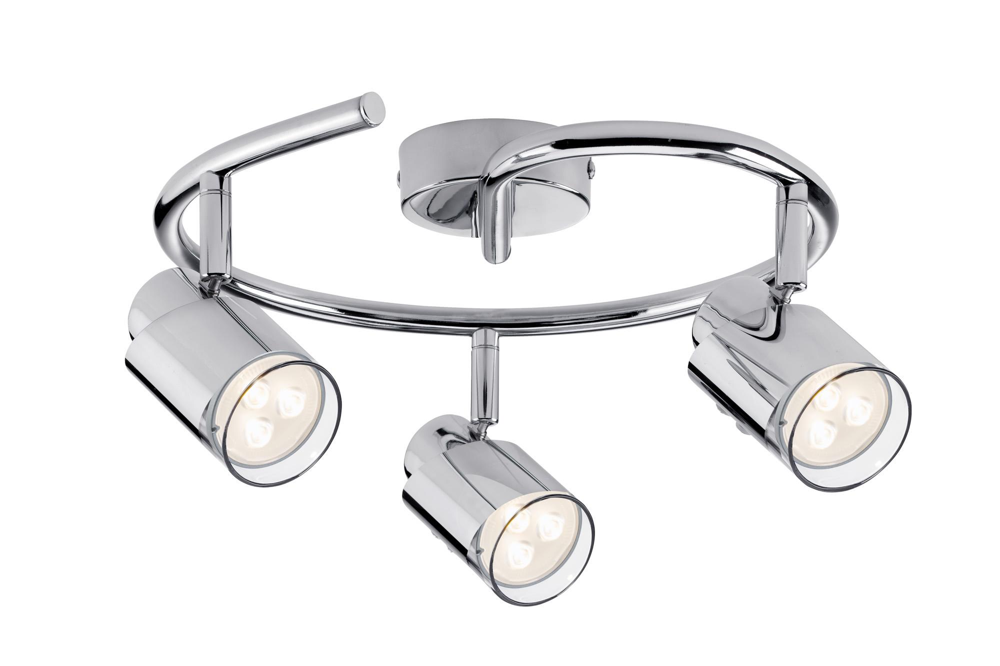 Paulmann. 60180 Светильник SL Futura LED Twister 3x3,5W GU10 Chr