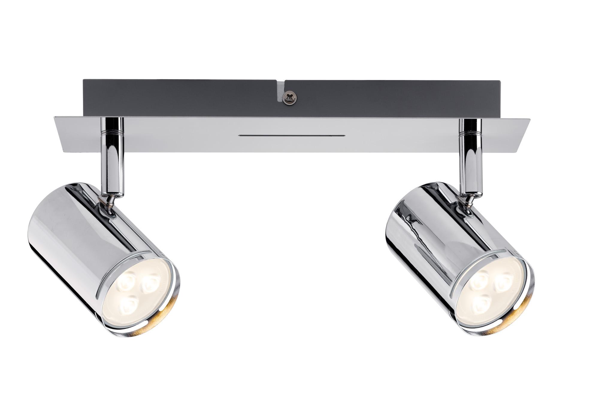 Paulmann. 60183 Светильник настенно - потолочный Rondo LED Balken 2x3,5W GU10, хром