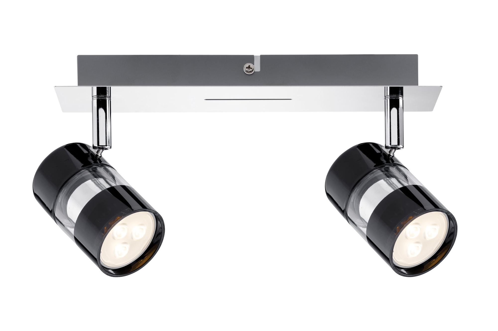 Paulmann. 60187 Светильник SL Nevo LED Balken 2x3,5W GU10 Sz/Chr