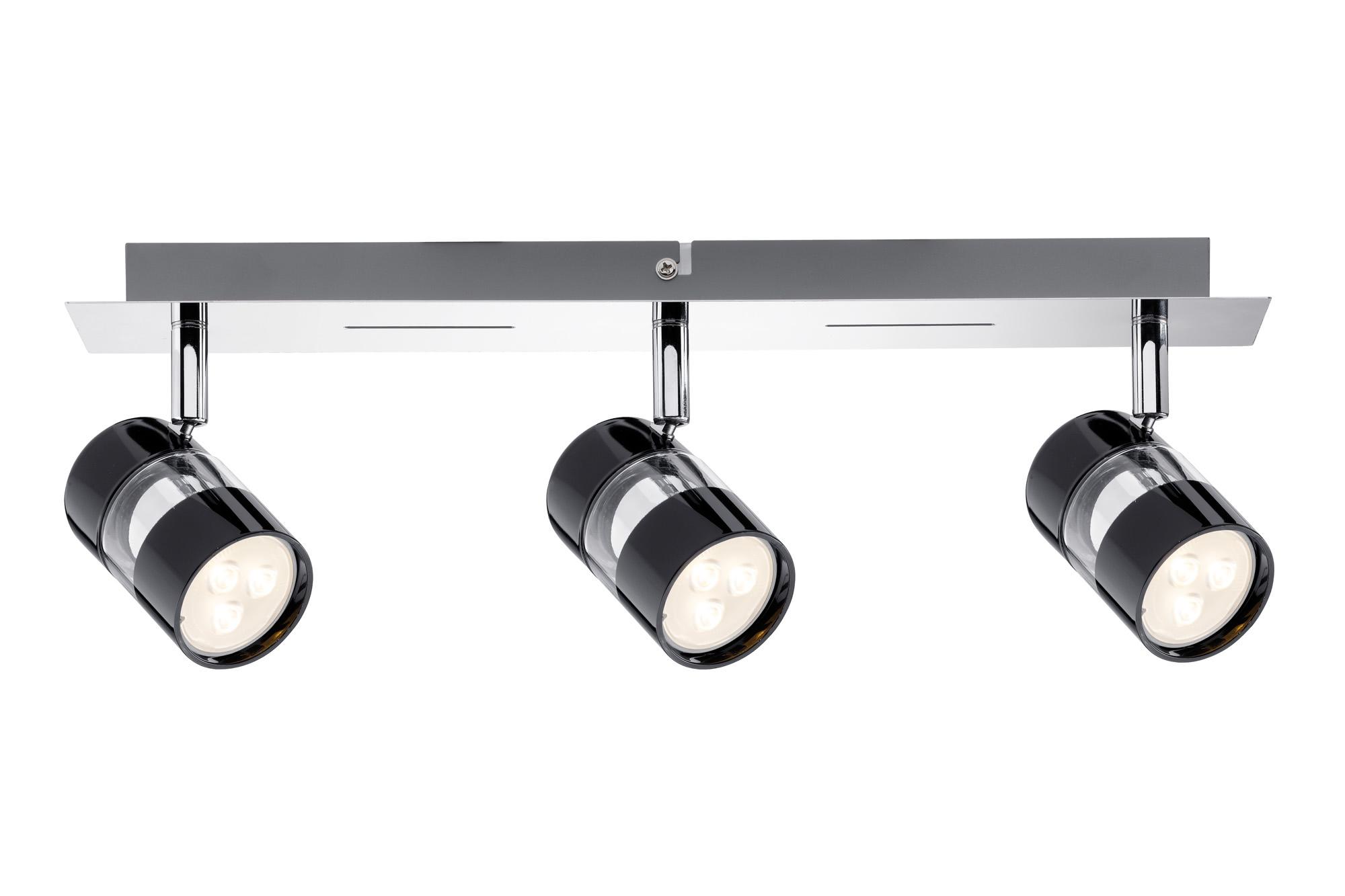 Paulmann. 60188 Св-к Nevo LED Balken 3x3,5W GU10 Sz/Chr