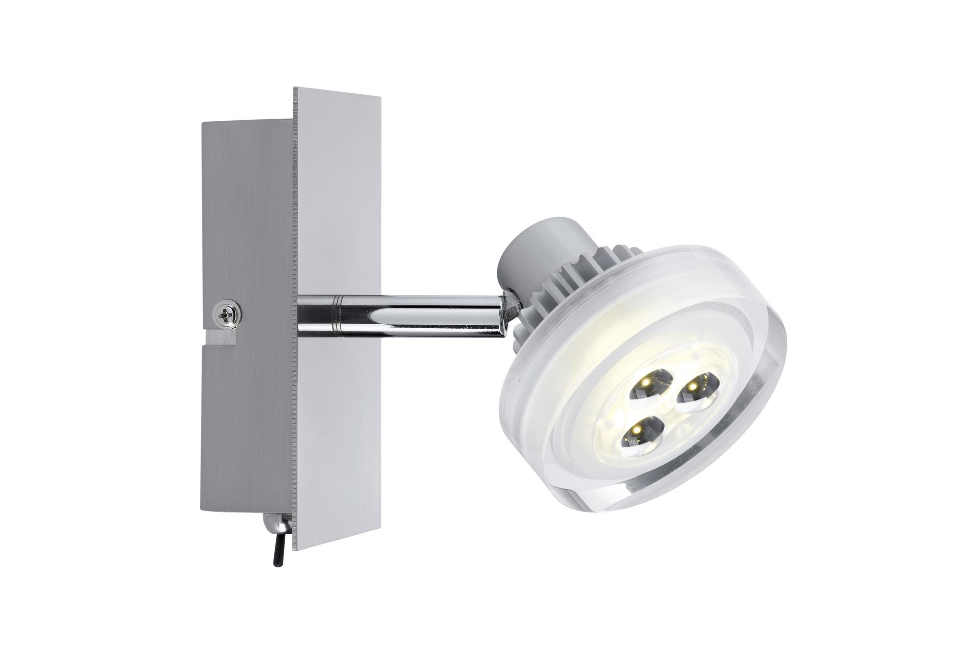 Paulmann. 60195 Светильник Gloria LED 1x 5 W, 230/12 V, 3000 K/ 1x 186 lm, никель тертый