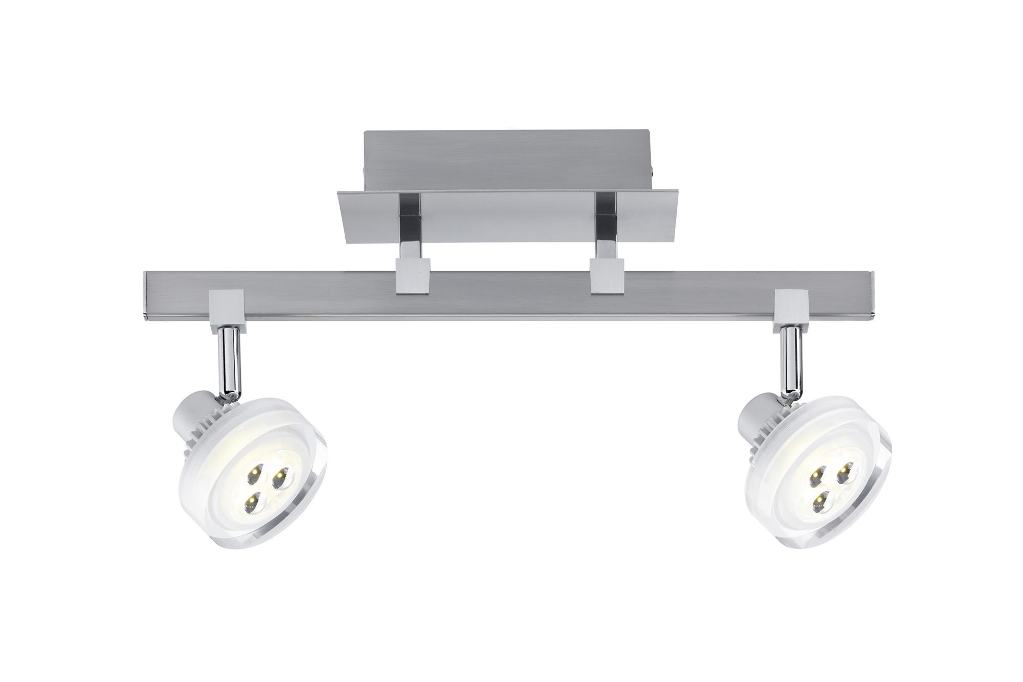 Paulmann. 60196 Светильник Gloria LED 2x 5 W, 230/12 V, 3000 K/ 2x 186 lm, никель тертый
